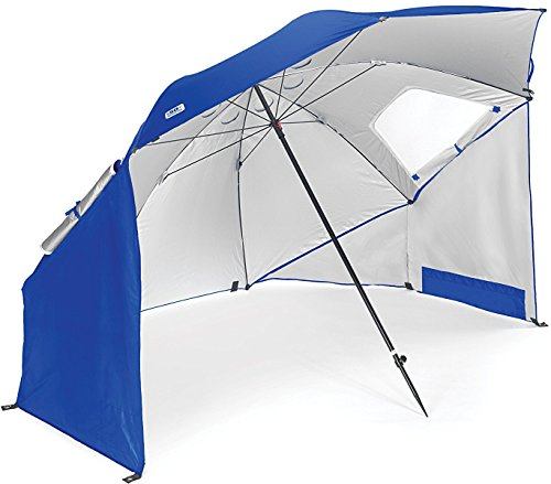 - Sport-Brella Vented SPF 50+ Sun and Rain Canopy Umbrella for Beach and Sports Events (8-Foot, Blue)