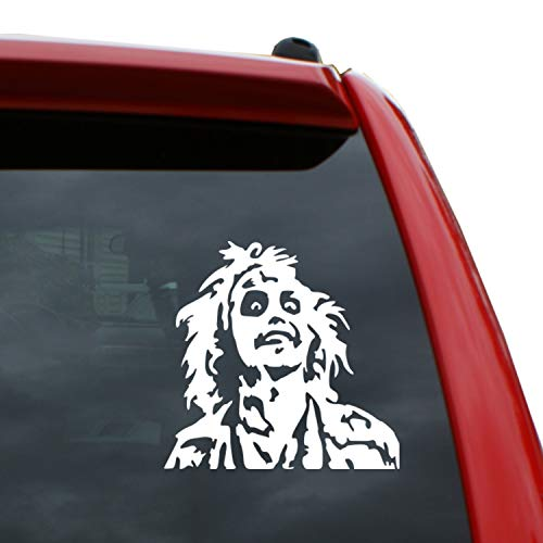 Black Heart Decals & More Beetlejuice Vinyl Decal Sticker | Color: White | 5