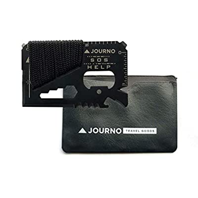 The 'Old Faithful' 14-In-1 Pocket Survival Tool. Makes An Ideal Gift That's A Perfect Multitool For Travel, Camping, Fishing And Fits In Your Wallet Like A Credit Card. Tactical Tools Include Knives, by Journo Inc.