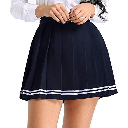 S Plissé Patinage Ecole Haut Scolaire De Tennis Tutu Bleu Sport Cérémonie Jupe Femme Bal Taille Uniforme Marin xxxl Yizyif Soirée Danse xqYpT6wW