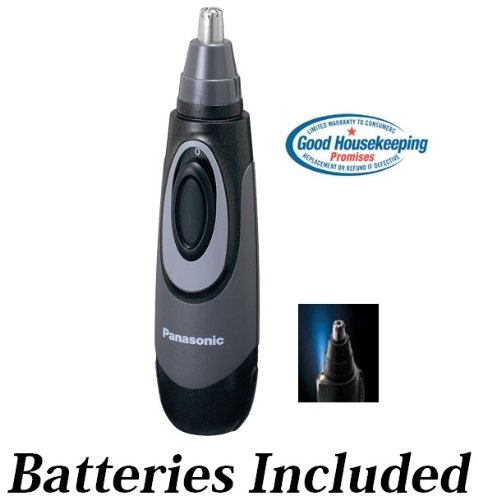 Panasonic All-in-One Nose & Ear Hair Trimmer with Built-in Light, Wet/Dry...