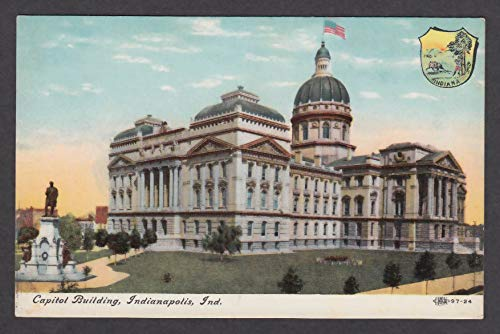 - Capitol Building Indianapolis IN postcard 1910s