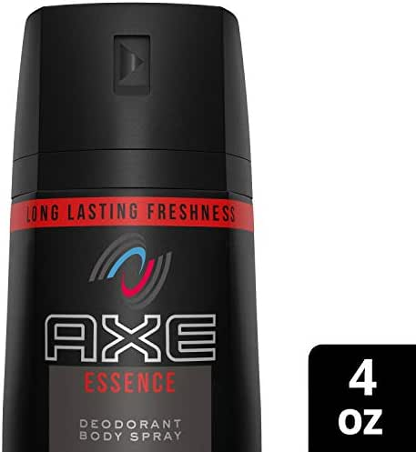 AXE Body Spray for Men, Essence, 4 oz (Pack of 6), Packaging May Vary
