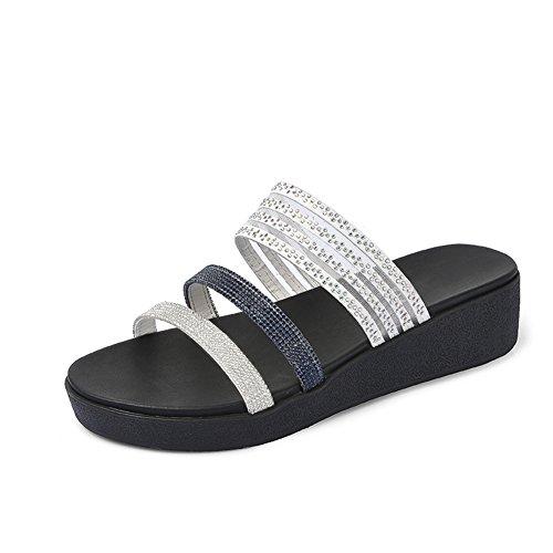 El diamante sandalias de plataforma en el verano/Moda exterior para usar pendientes y drag femenino B