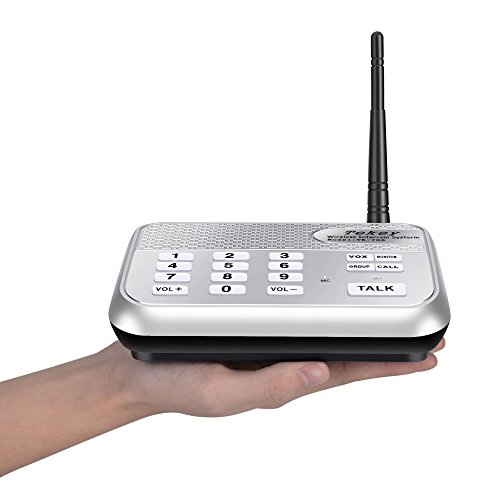 Wireless Intercom System (2017 Version), TekeyTBox 1800 Feet Long Range 10 Channel Digital FM Wireless Intercom System for Home and Office Walkie Talkie System for Outdoor Activitie(4 Stations Silver) by TekeyTBox (Image #6)