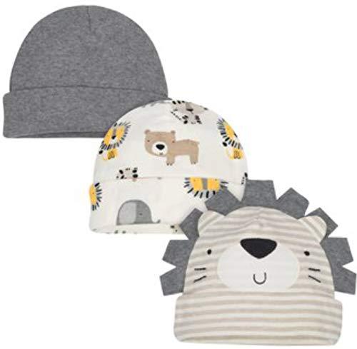 - Gerber Organic Cotton Newborn Baby Boy 3pk Cap