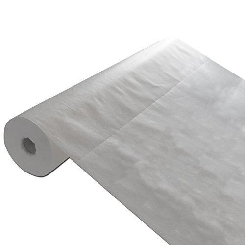 """Disposable Bed Sheets Canada: 70.5""""x30"""" 50 Sheet-1 Roll Disposable White Non-Woven Paper"""