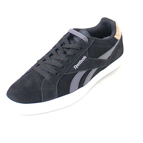 Reebok Bd3215, Zapatillas de Tenis para Hombre Negro (Black / Ash Grey / Silver Met / White)
