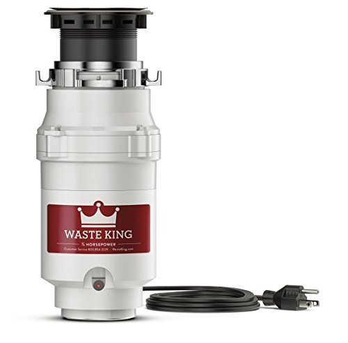 Waste King Legend Series 1/2 HP Garbage Disposal with Power Cord - (L-1001)