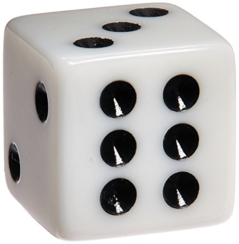 100 White Dice - 16mm by Marion - Marion Painting