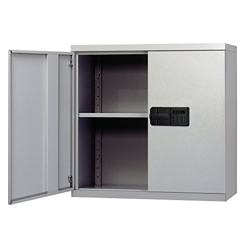 Sandusky Lee KDEW3012-DGY Dove Gray Steel Wall Cabinet, Keyless Electronic Lock, 1 Adjustable Shelf, 30