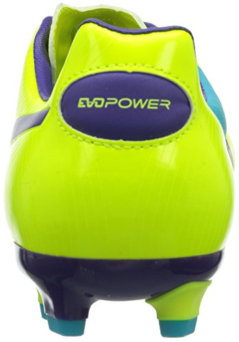 Puma evoPOWER 3 FG - Zapatos de fútbol de material sintético hombre Arancione (Orange (fluro yellow-prism violet-scuba blue 04))
