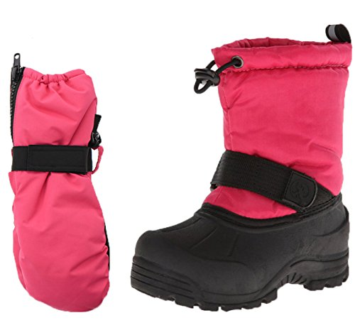 Northside Frosty Snow Boots Matching Waterproof Gloves (Toddler, Kids, Youth)