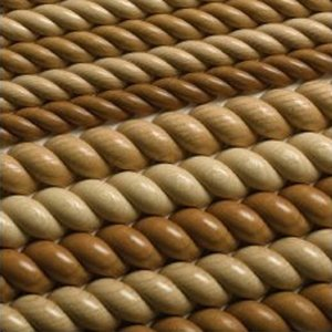 - Split Rope Molding 8' Maple-4/Box