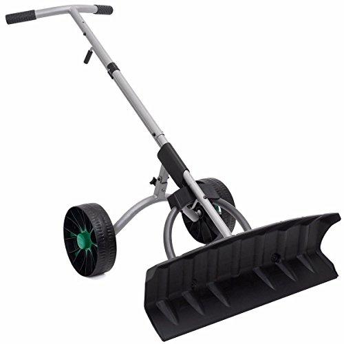 JedaJeda Snow driveway Adjustable Pusher Walk behind Shovel Removal Blade Wheels Plow
