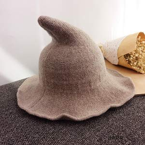for Halloween Party Masquerade Cosplay Costume Accessory and Daily Fekey/&JF Womens Witch Kinitted-Wool Hats