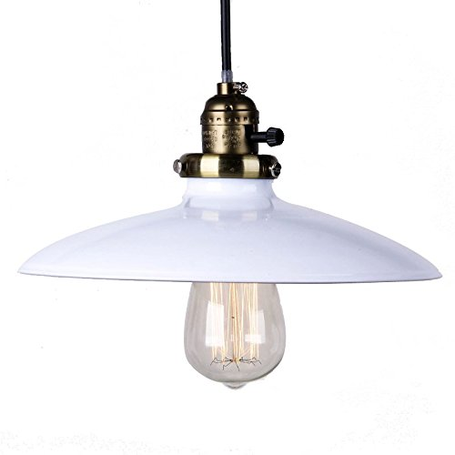 WINSOON VINTAGE RETRO INDUSTRIAL LOFT METAL CEILING LIGHT PENDANT LAMP SHADE (White) Review