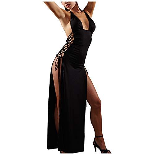 AIEason Lingerie Set, Women Girl Lingerie Plus Size Women Underwear Nightdress Long Skirt Pajamas (XXL, Black)