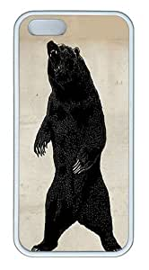 IMARTCASE iPhone 5S Case, Grizzly Bear Case for Apple iPhone 5S/5 TPU - White