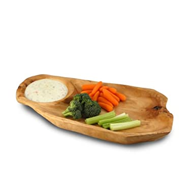 Enrico 2205 Root Wood Chip and Dip Platter