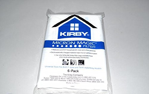 Kirby Part#204808 - Genuine Kirby Style F HEPA Filtration Vacuum Bags for Sentria Models - 6/Package, Sentria®, for units built on 2009 and later (6 Bags & 2 Belts) Sentria® AX-AY-ABHI-76113