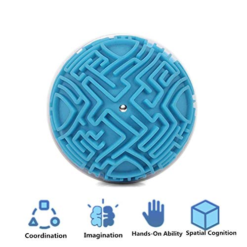 Mcree Magic 3D Maze Ball Magic Puzzle Intelligence & Idea Maze Game Toys with Magic Gravity Memory Sequential Game for Kids -