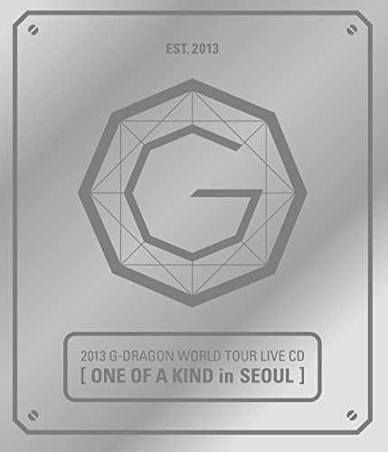G-DRAGON BIGBANG - 2013 World Tour Live [ONE OF A KIND in SEOUL] SILVER ver. CD + Photo Booklet + Standing Paper + Extra Gift Photocards Set by YG Entertainment