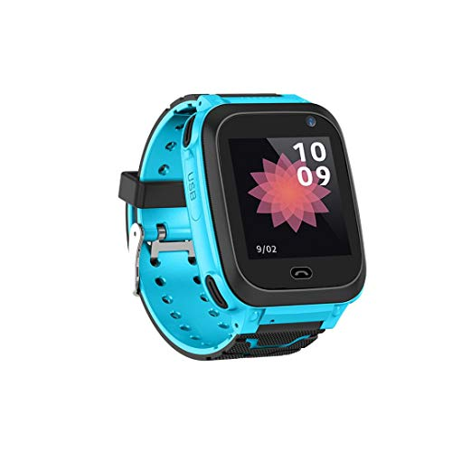 Price comparison product image Buybuybuy Kid Smart Watch GPS Tracker - IP67 Waterproof Fitness Tracker Watch Phone with SIM SOS Camera Anti-lost Game Pedometer Digital Wrist Sport Bracelet Watch iOS / Android (Blue)