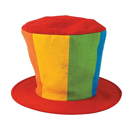 Fun Express - Oversized Felt Clown Top Hat Party Halloween Carnival -