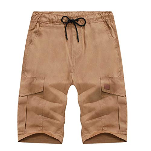 Summer Fashion Men's Stickers Pocket Tether Elastic Sports Pants Shorts, Mmnote ()