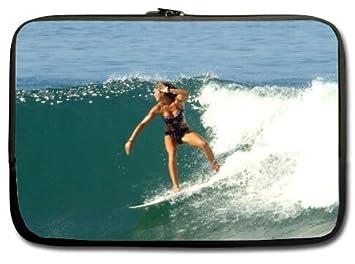 """Playa tabla de surf bikini nuevo funda para portátil 13 """"(doble ..."""