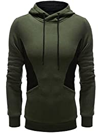 Men's Long Sleeve Pullover Fleece Hoodie Hooded Sweatshirt Lightweight Jacket