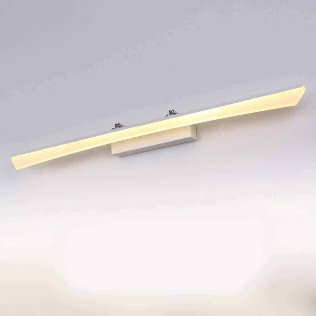 FXING & Bad Beleuchtung LED-Spiegel Scheinwerfer, Schminktisch Lampe Badezimmer Toiletten Badezimmer Beleuchtung Einfache Moderne Wandleuchte wasserdicht Anti-Nebelscheinwerfer (Farbe  Warmweiß-12 w