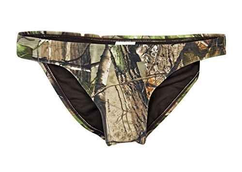 Realtree Women's Bathing Suit: Scoop Hipster or Bikini Bottom (Large, Scoop Hipster Bottom - Camo (830304))