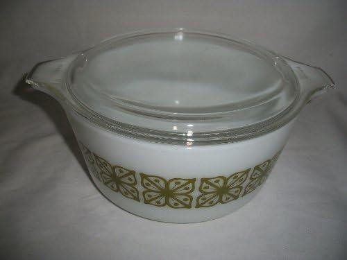 Rare Promo Pyrex Brides Casserole Dish 1 12 Quart Green Flower 474 B With Lid 1960/'s Kitchen