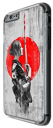 1101 - cool fun samurai sword japanese costume art illustration Design For iphone 5C Fashion Trend CASE Back COVER Plastic&Thin Metal -Clear