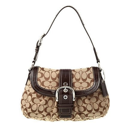 ignature Flap Purse Handbag 15203 Khaki/mahogany (Soho Flap Handbag)
