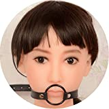 Female SLE T-ràiner Ball Gags Black Short Version Funny Toys Gear Leather Mouth