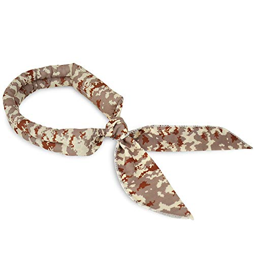 N-rit Cooling Scarf. Wrap a Soaked Tie Around Neck or Head to Instantly Chill Out. Crystal Polymer Technology Keeps Cool & Reusable. Great for Summer, Outdoor Activities & Sports. [Desert Camo]