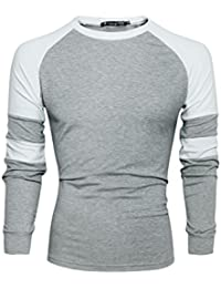Allegra K Men Contrast Color Raglan Tee Shirt