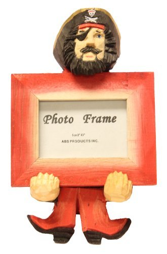Amazon 6 Inch Tall Carved Wood Easel Pirate Picture Frame
