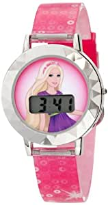 Mattel Kids' BAR005T Barbie Digital Watch And Hair Clips Tin Gift Set Watch