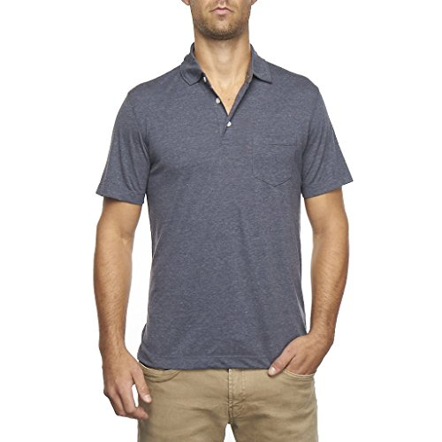 Tailor Vintage Men's Performance Heather Jersey Polo (Navy Heather) - 9520P950-NVY