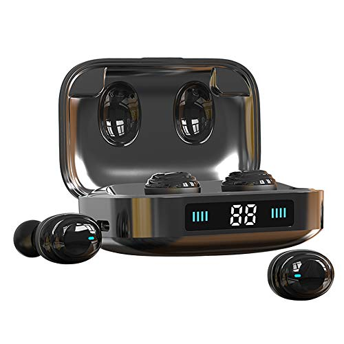 Wireless Earbuds Bluetooth 5.0 in-Ear Headphones,2000Mah Display Type-C Fast Charging Case/IPX7 Waterproof/Noise Cancelling Mic/Touch Control/Hi-Fi Sound/Single&Twin Mode Earbuds for iPhone&Android