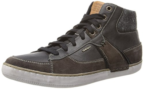Geox - U Box, Sneaker a collo alto Uomo Marrone (Mud/Black)
