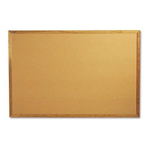 Quartet Oak Finish Frame Cork Bulletin Board, 4 x 6 Feet (307) by Quartet