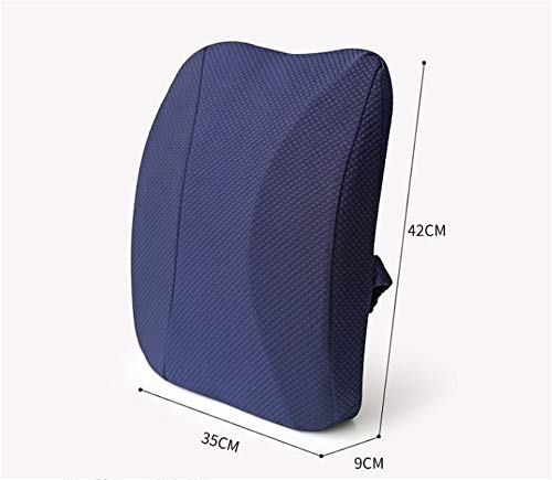 XJ&DD Office Lumbar Support pad,Waist Pillow,Car seat Cushion,Premium Memory foamfor Home Computer Games Travel Student-A 35x42cm(14x17inch) by XJ&DD (Image #1)