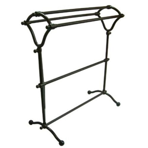 Kingston Brass CC2285 Pedestal Y-Type Towel Rack with White Box, Oil Rubbed Bronze
