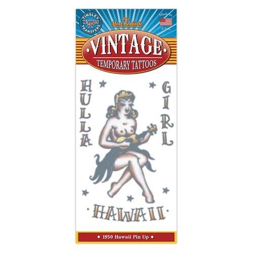 1950 Hula Girl Design Vintage Type Temporary Tattoo -