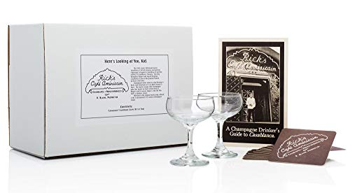 """""""Casablanca"""" 1942 Champagne Coupe (Rick's Cafe Set of 2)"""